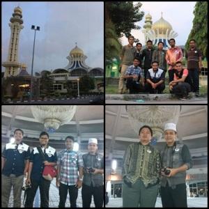 Kenangan pelajar lelaki bersama pensyarah di Masjid Negeri Pulau Pinang
