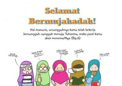 Keep struggle and strive for mardhotillah! ^^